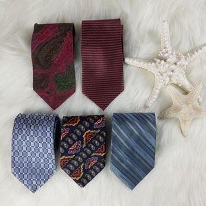 Men's Designer Silk Tie Bundle Calvin Tommy Blass